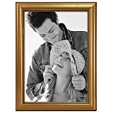 Malden International Designs Traditions Molding Wooden Picture Frame, 5 by 7-Inch, Gold