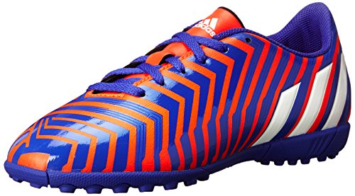 adidas Performance Predito Instinct TF J Soccer Shoe (Big Kid), Solar Red/Running White/Night Flash Pink Soft, 4.5 M US Big Kid