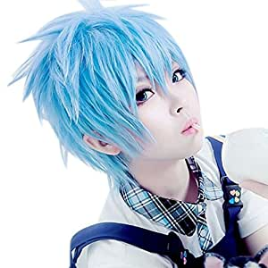 ROLECOS Mens Japanese Anime Cosplay Wigs Short Full Hair Synthetic Wig (RW152-blue)