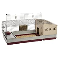 Krolik Extra-Large Rabbit Cage w/ Wood Hutch Extenstion   Rabbit Cage Includes All Accessories & Measures 55.9L x 23.62W x 19.68H & Includes ALL Accessories   1-Year Manufacturer's Warranty