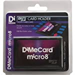DiMeCard micro8 microSD Memory Card Holder (Ultra thin credit card size holder, writable label) 9 Ultra-slim design - 1/10th inch thin, credit card size for wallet (thinnest in the world!) Writable panels to note memory card contents Ideal companion for camera phones, smart phones & tablet PC's