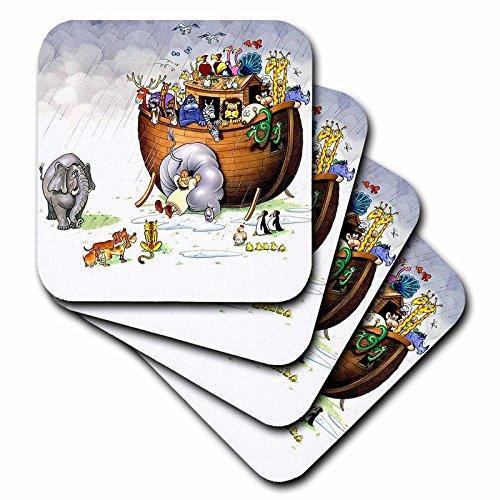 Biblical - Noahs Ark - set of 4 Ceramic Tile Coasters -