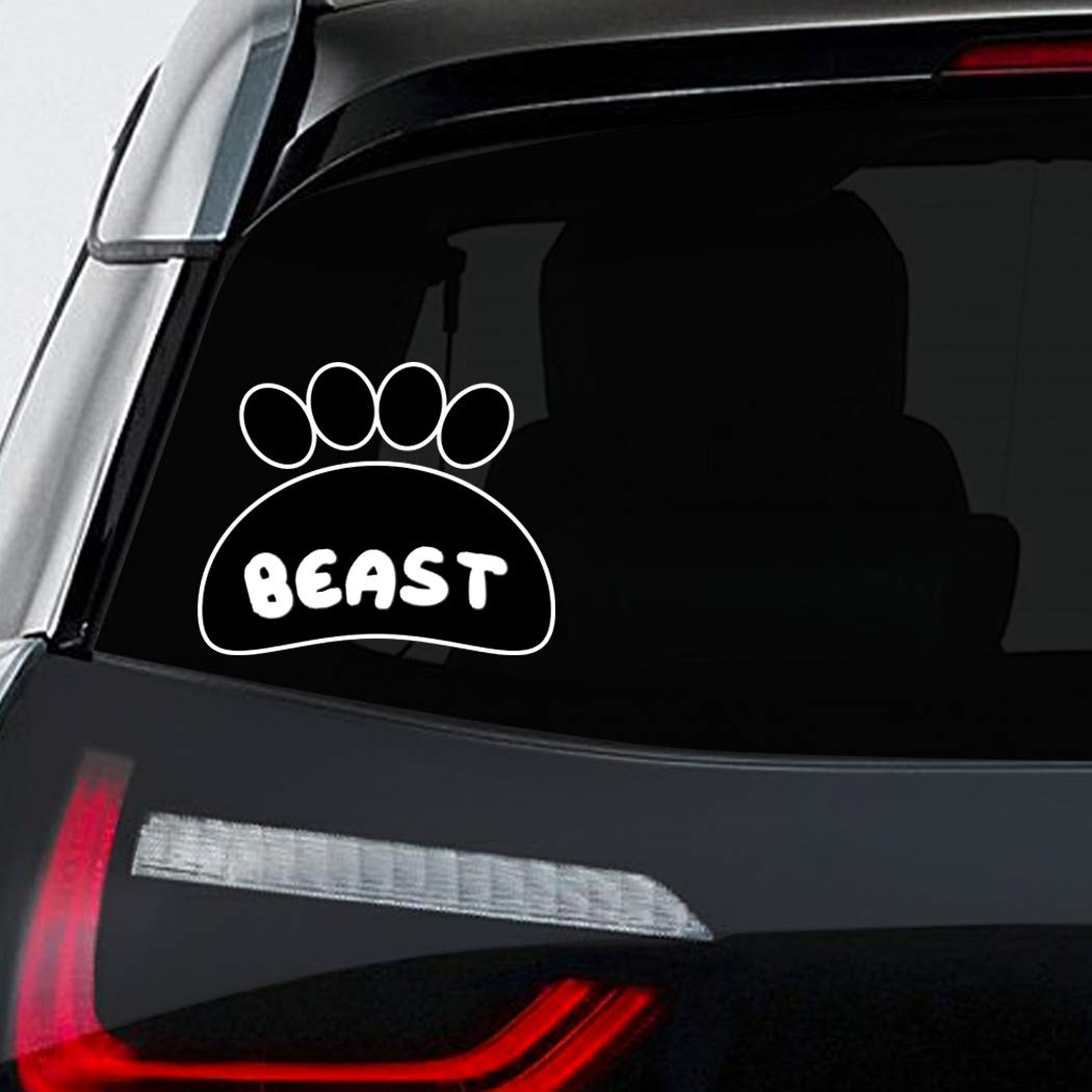 Amazon com makoroni beast cat car laptop wall sticker decal 5by6small or 7 5by9large automotive