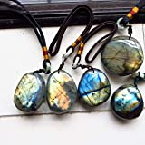 Autumn Water New Natural Crystal Moonstone Raw Gemstone Ornament Handicraft Bright Shinning Labradorite DIY bracelets and necklaces for gift