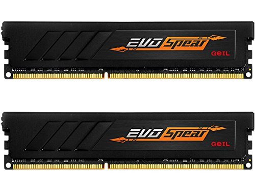- GeIL 16GB (2 x 8GB) AMD Edition EVO SPEAR DDR4 PC4-19200 2400MHz Desktop Memory Model GASB416GB2400C16DC