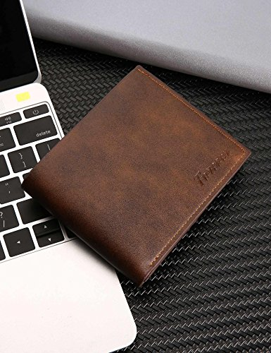 Letter Light Open Men Bifold Thin Fashion Print Wallets Legros8 Brown Short Wallets v1ExwaqAB
