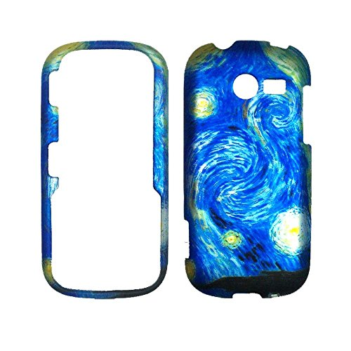 New Blue Art Samsung Array / Montage M390 Case Cover Phone Snap on Cover Case Rubberized Frosted Matte Surface Hard Shells