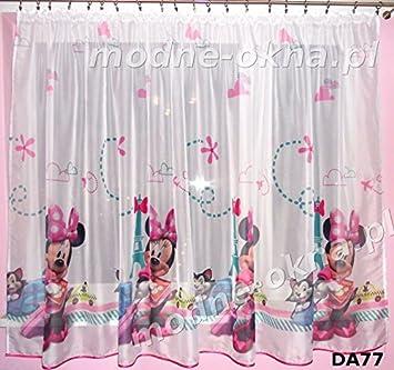 Minnie Mouse Gardinen amazon de 1x gardinen mit universalband disney minnie mouse teil