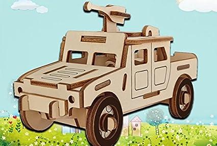 Amazon Com 3d Wooden Model Toy Kit World Puzzle Build Car Kit