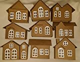 Vintage Style Cardoboard Putz Houses- Set of 9 Houses