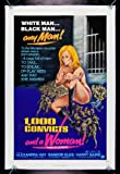 1000 convicts and a woman - 1000 CONVICTS AND A WOMAN * CineMasterpieces ORIGINAL MOVIE POSTER 1971