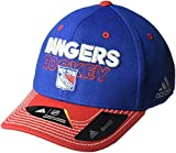 ranger hockey hat - adidas NHL New York Rangers Adult Men Pro Authentic Locker Room Structured Flex, Large/X-Large, Blue
