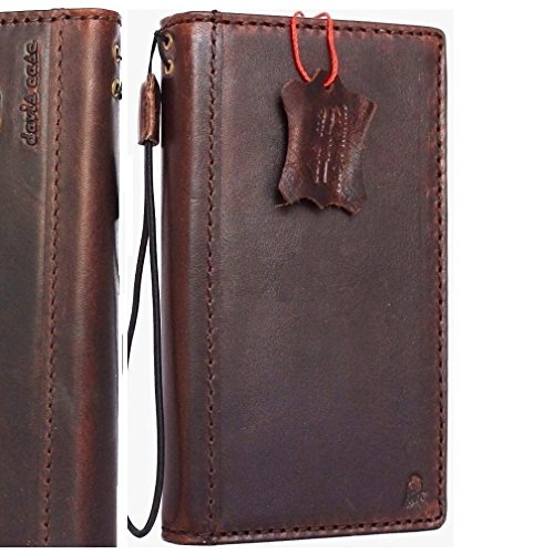 Price comparison product image Genuine Vintage full Leather Case for Samsung Galaxy S8 plus Book Wallet Luxury Cover S Handmade Retro Id s 8 brown chocolate daviscase