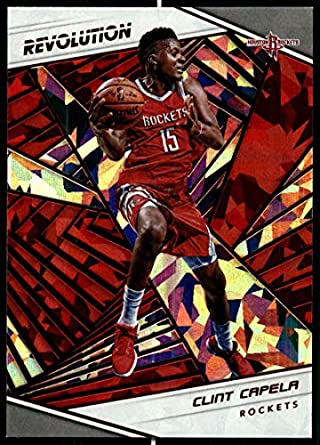 f9d23557436 2018-19 Revolution Chinese New Year Red Parallel  68 Clint Capela Houston  Rockets Panini