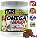 Product review for LIVELY PETS Omega Maxx High Potency Best Fish Oil Dogs Treats Sensitive Skin - Dog Food Healthy Skin Supplement and Omega 3 Dog Fish Oil - Skin and Coat and Heart Health