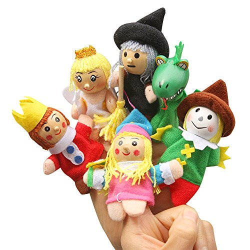 (Baidecor King and Queen Finger Puppets Set of 6)