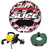 #4: Sportsstuff Stunt Flyer 2 Person Inflatable Tube w/ Tow Rope & Pump
