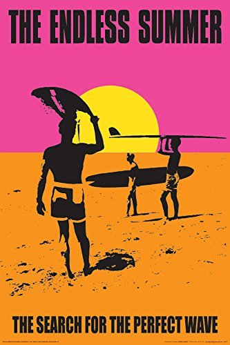 ((24x36) The Endless Summer Movie Holding Surfboard Poster Print )