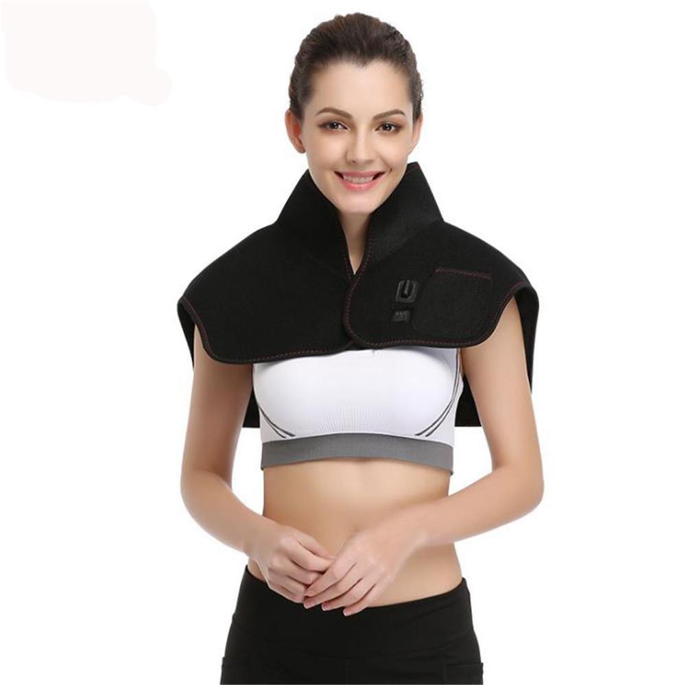 Electric heating Moxibustion Keep warm shawl,7.4V Safety voltage Shoulder vibration massager