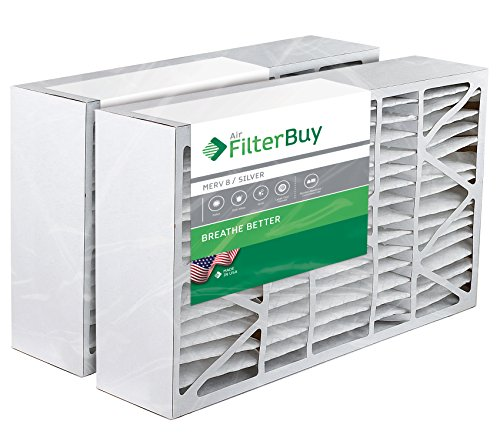 2 FilterBuy 16x28x6 Aprilaire Space-guard 2400 Aftermarket Pleated AC Furnace Air Filters. AFB Silver MERV 8.