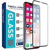 Tech Armor Edge to Edge Glass (.3mm) Apple iPhone X (iPhone 10) Screen Protector (Black) [1-Pack]