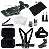 GBB 21-in-1 Chest Mount & Head Mount Harness Action Camera Kit Accessories for GoPro HERO 5 4 3 2 1