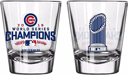 Chicago Cubs 2016 World Series Champions Shot Glass Trophy - Champions World Glass Series