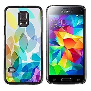 rígido protector delgado Shell Prima Delgada Casa Carcasa Funda Case Bandera Cover Armor para Samsung Galaxy S5 Mini, SM-G800, NOT S5 REGULAR! /Autumn Spring Colorful Design/ STRONG