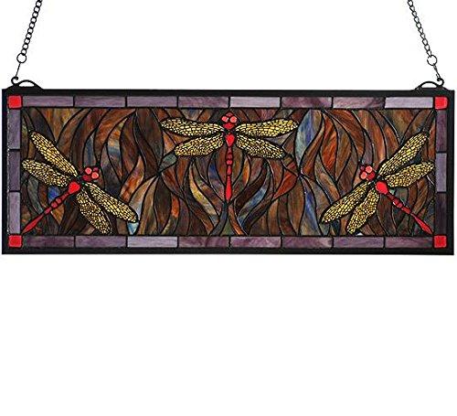 Meyda Tiffany 48091 Tiffany Dragonfly Trio Stained Glass Window, 28