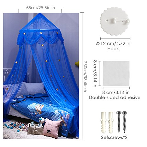 QWEPU Moskitonetz Bett Baldachin M/ückennetz 250 x 900 x 60cm Fliegennetz f/ür Indoor Outdoor Reise Camping Betthimmel Insektenschutz Netz
