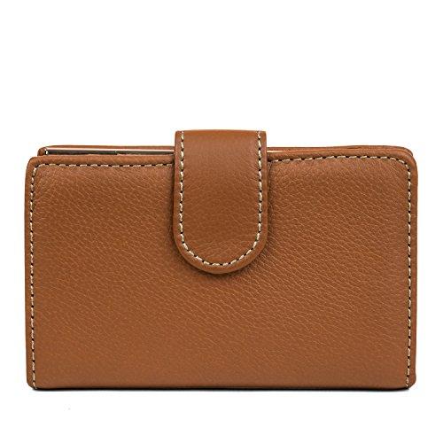 Mundi Rio Womens Leather Frame Index Wallet (Cognac) - Mundi Brown Handbag