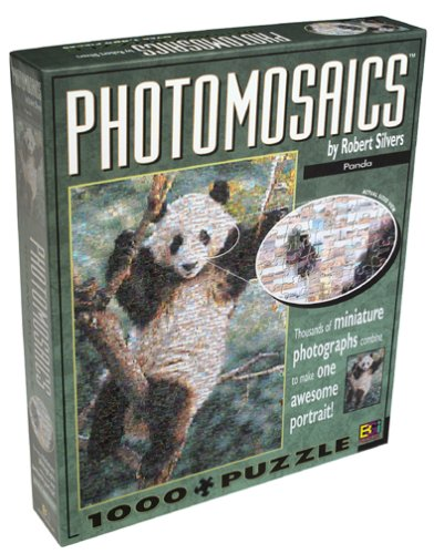 Panda Photomosaic Puzzle by Robert Silvers
