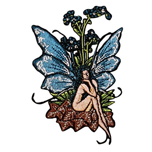 Fairy Applique - Artist Amy Brown Forget me not Embroidered Iron on Fairy Fairies Patch p584
