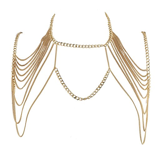 Lux Accessories Gold Tone Chain Swag Bra Body Jewelry from Lux Accessories