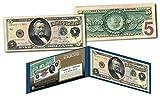 Morgan Silver Back 1886 $5 Grant Silver Certificate Banknote on Modern $5 Bill