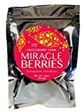 Miracle Berries by the Snozzberry Farm, freeze dried 100% Miracle fruit, Bulk 1-Pack 175 berry halves, Non-GMO, Grown in the USA, Makes sour sweet, Great for flavor tripping parties and everyday use.