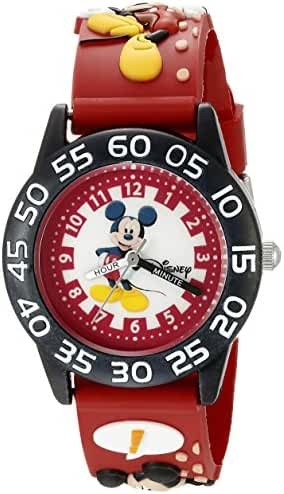 Disney Infinity Kids' W002484 Mickey Mouse Analog Display Analog Quartz Red Watch