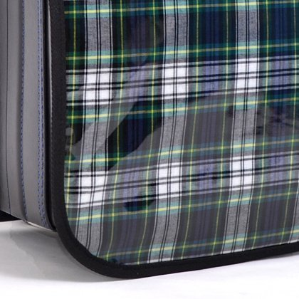 Exciting school school bag cover trad tartan green, dark blue made in Japan N4122400 (japan import)