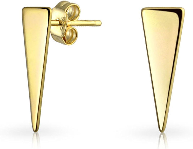 Silver plated bar earrings Morden Minimalist Geometric earrings Gift for her