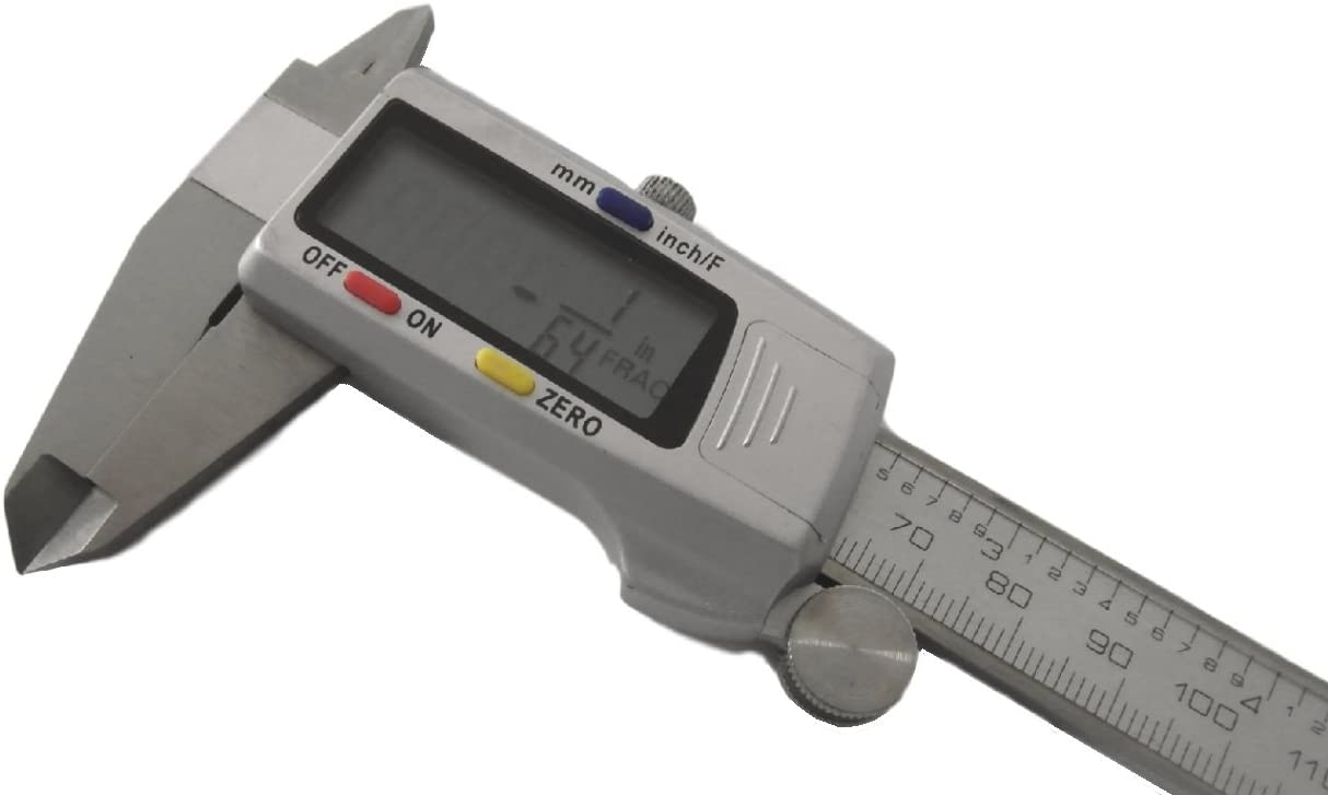 """6"""" / 150mm Fractional Digital Vernier Calipers (Large Display) 6 Inch 150 CE + Case"""