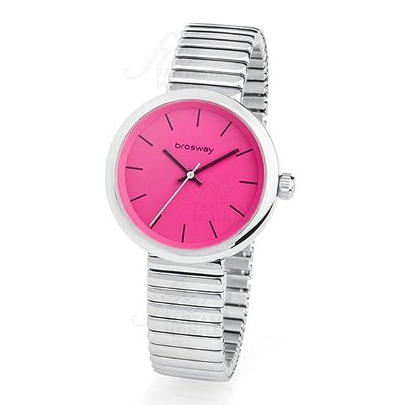 Reloj Brosway b-crazy Mujer Doble Correa Piel Rosa Acero BC05: Amazon.es: Relojes