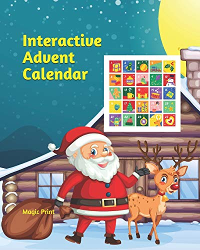 Interactive Advent Calendar Interactive book for children (age 4-10) - For each day a coloring picture, a maze or a dot to dot activity - Funny Advent Calendar - Advent children