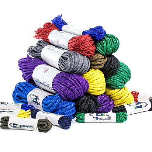 Paracord Planet 95, 275, 325, 425, 550, 750, and Para-Max Paracord – Various Solid Colors – Available in Lengths of 10, 25, 50, 100, and 250 Feet of USA Made Cord by PARACORD PLANET (Image #6)