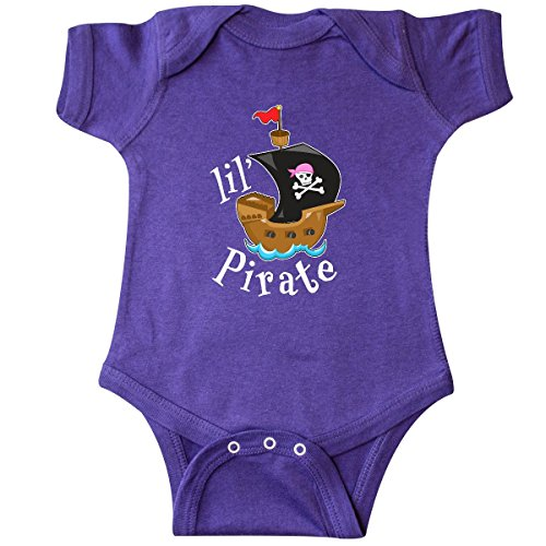 inktastic - Lil' Pirate Pirate Ship, Pink Infant Creeper 6 Months Purple 2a4d8