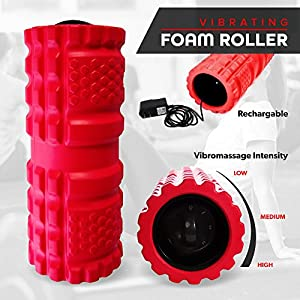 Vibrating Exercise Foam Roller (3 speed) Will Have Your Muscles Relaxed and Recovered Faster Than Any Regular Foam Roller! Relax and Heal Sore Muscles Using Our Deep Tissue Vibration Technology. from Product Stop, Inc
