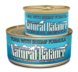 Natural Balance Canned Cat Food, Tuna and Shrimp Recipe, 24 x 6 Ounce Pack, My Pet Supplies