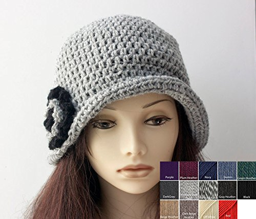 Amazon Hand Crocheted Wool Flower Cloche Hat Custom Choose
