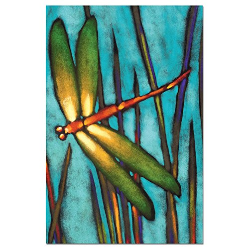 Dragonfly Card Note - Tree-Free Greetings EcoNotes Stationary- Blank Note Cards with Envelopes, 4