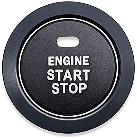 Aizfa Start Stop Button Cover+Ring Ignition Start Stop Button Trim Ignition Switch Button Sticker Push Button Switch Stickers,for Subaru Forester Legacy Impreza Outback Ascent BRZ XV red
