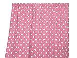 Cheap Zen Creative Designs® Premium Cotton Polka Dot Curtain Panel / Home Window Decor / Window Treatments / Dots / Spots (72 Inch x 58 Inch, White Pink)